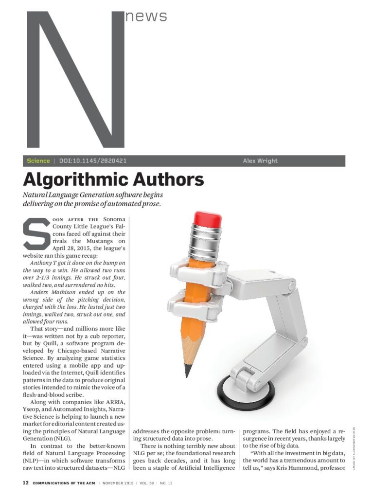 Algorithmic Authors